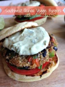 Southwest Quinoa Veggie Burgers