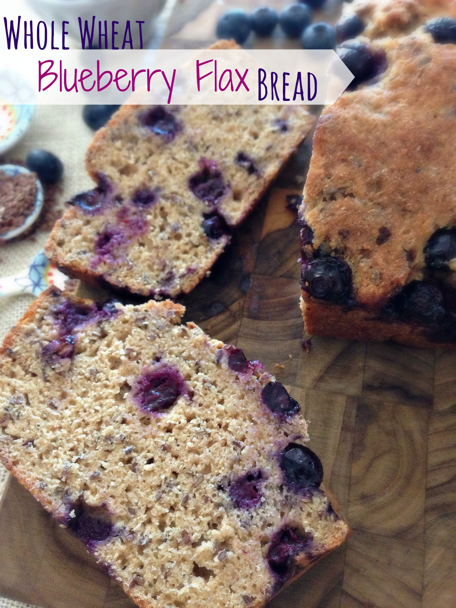 Whole wheat blueberry bread with so many healthy alternative baking ...