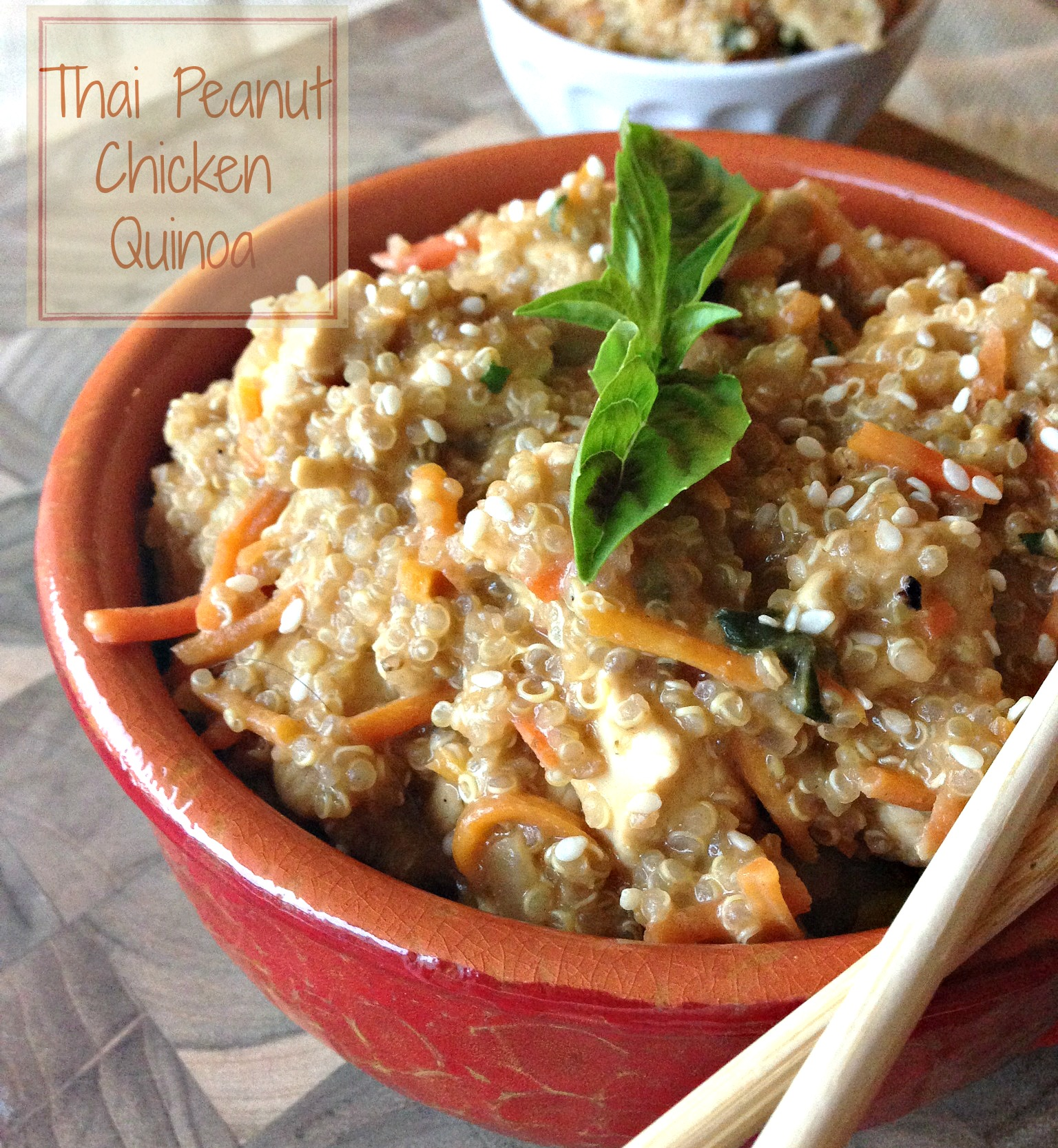 Thai Peanut Chicken with Quinoa
