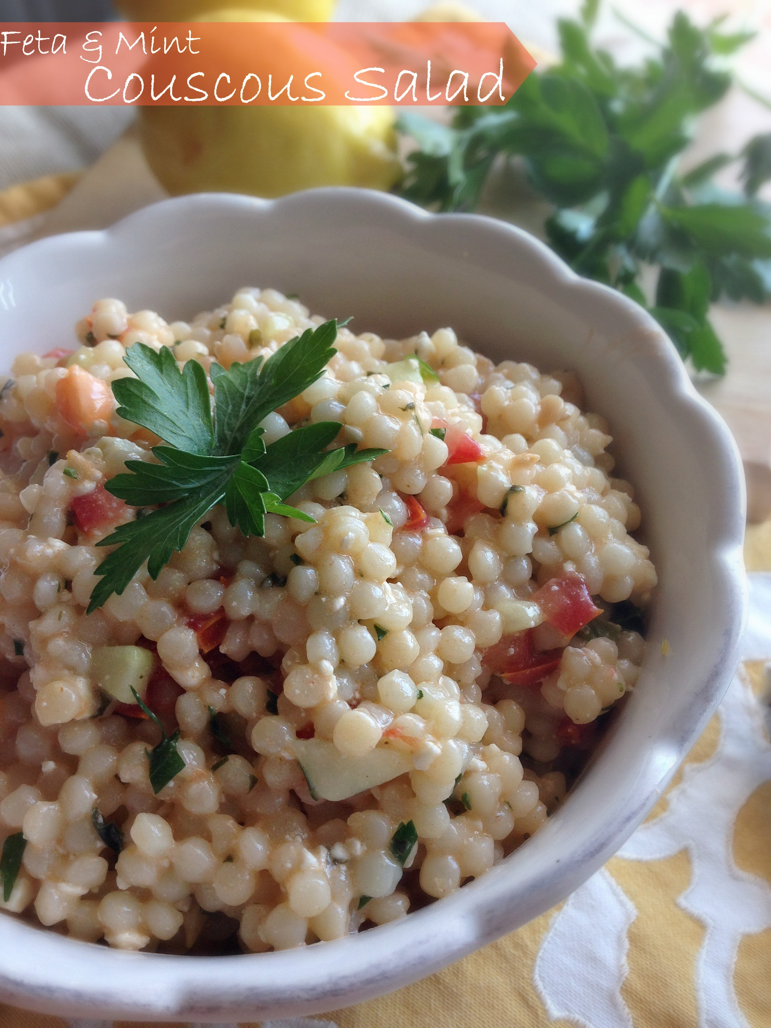 Feta & Mint Couscous Salad