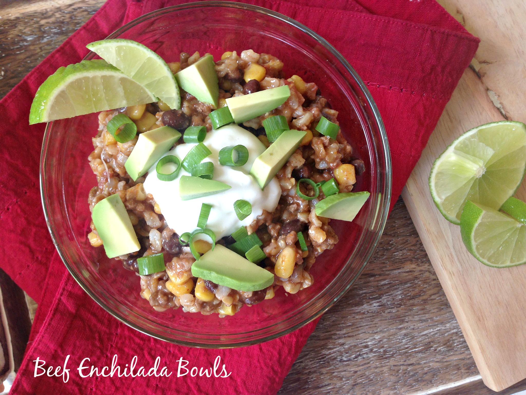 Low-Fat Beef Enchilada Bowls