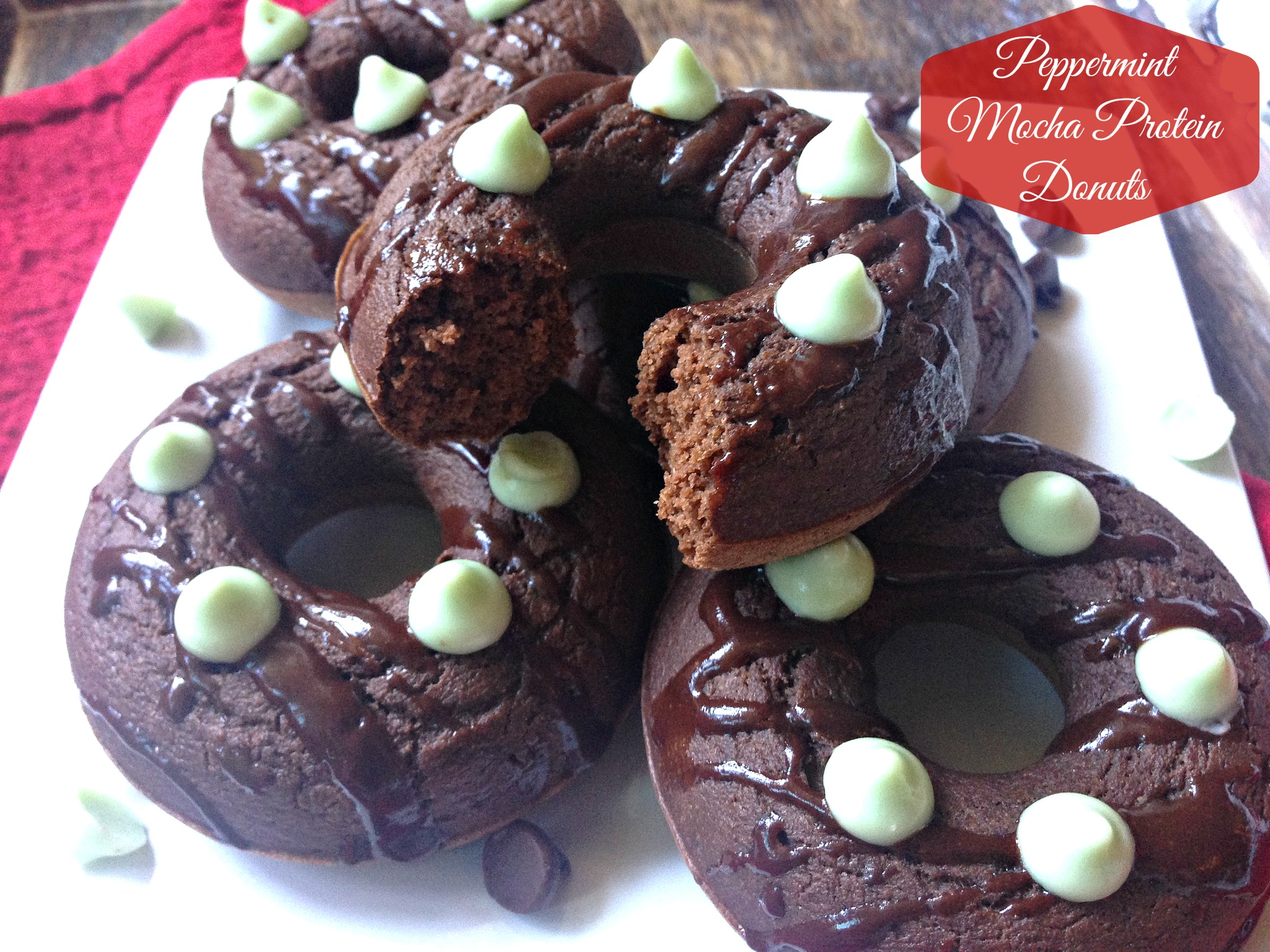 Peppermint Mocha Protein Donuts