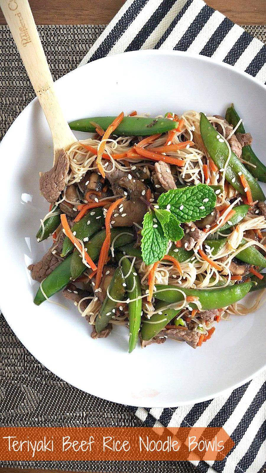 Teriyaki Beef Rice Noodle Bowls
