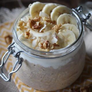 Banana Coconut Cream Pie Overnight Oats