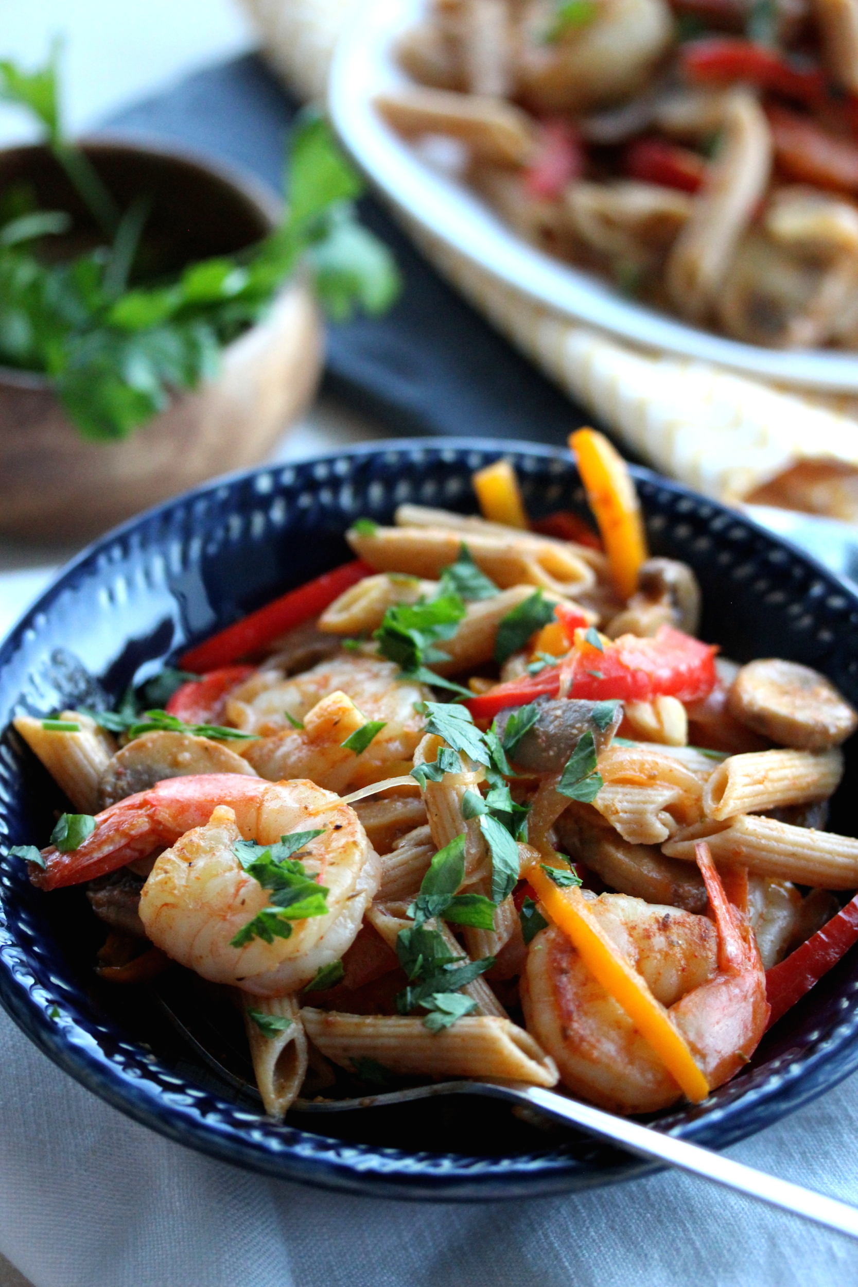 Creamy Cajun Shrimp Pasta | dishingouthealth.com
