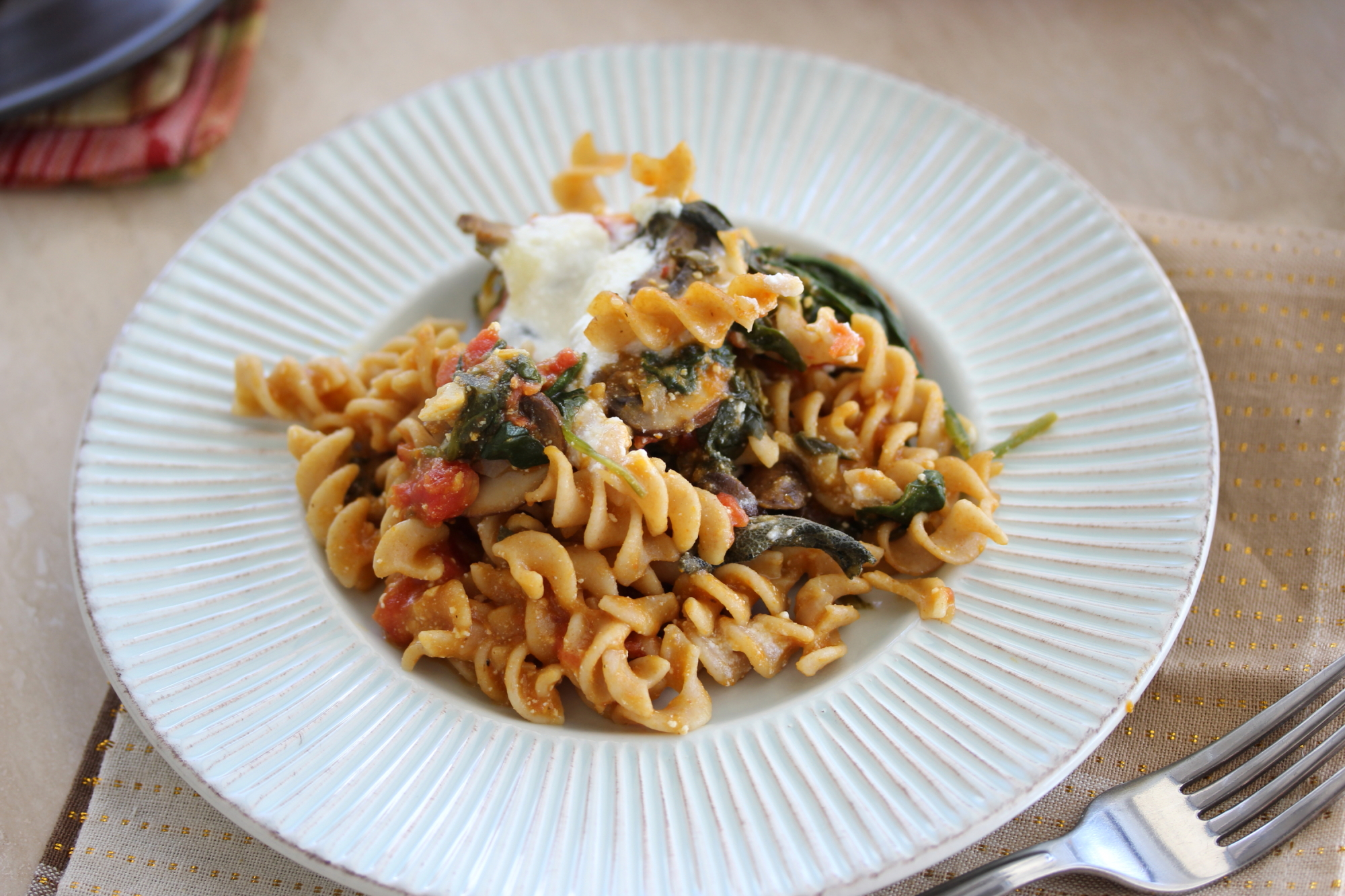 Autumn Pasta Bake with Pumpkin Tomato Sauce and Ricotta ...
