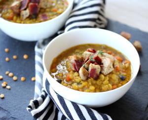 Easy Moroccan Split Pea Soup
