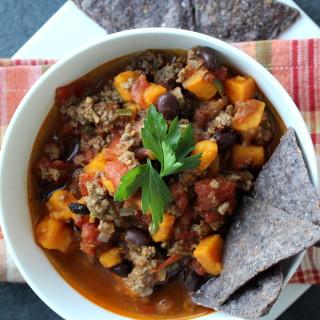 Slow Cooker Sweet Potato Black Bean Chili
