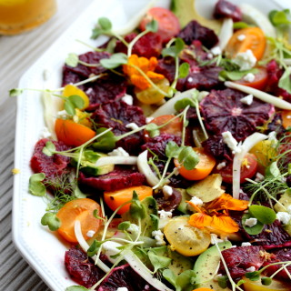 Citrus Salad with Fennel, Avocado and Honey Lemon Dressing