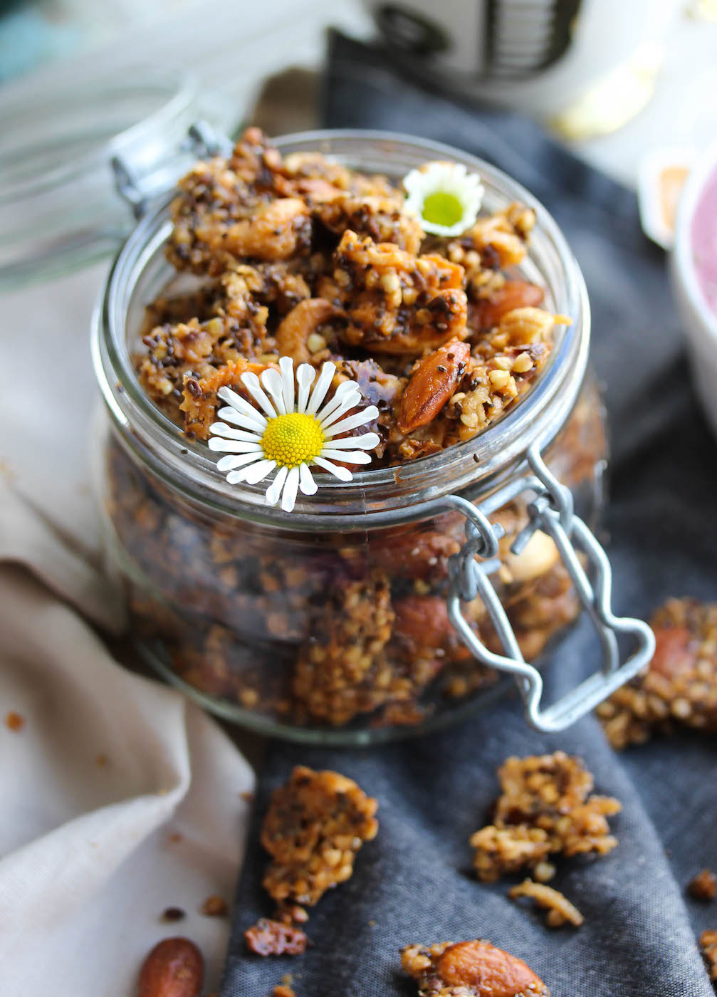 Big Cluster Buckwheat Almond Butter Granola