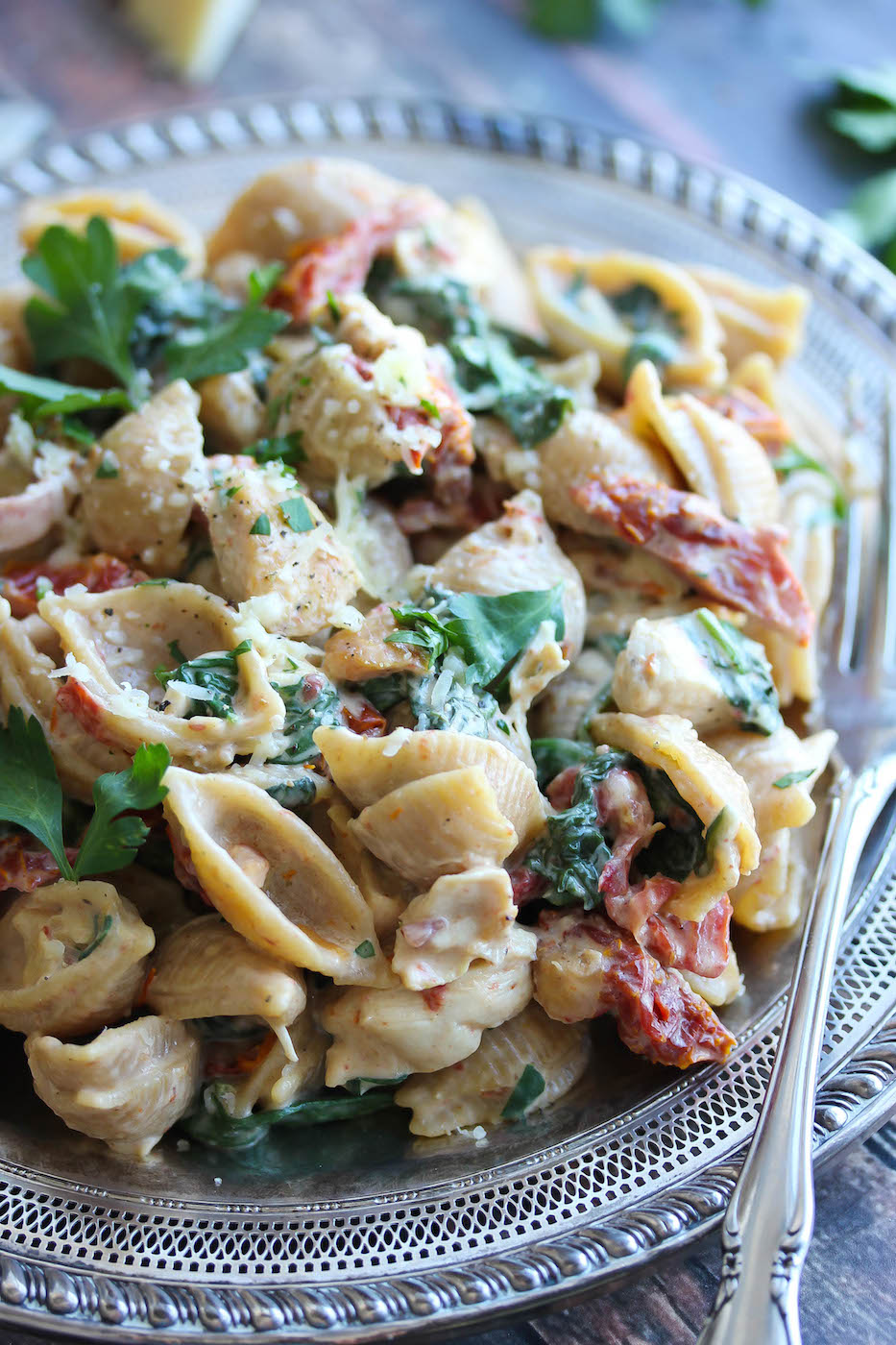 Healthy chicken florentine pasta recipe