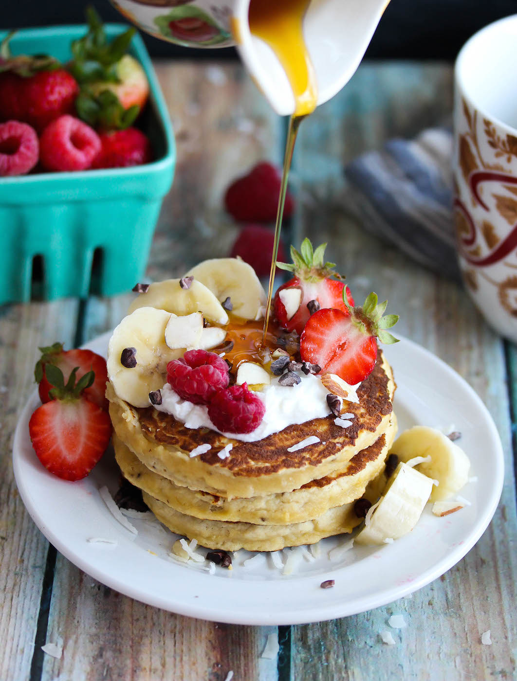 Best Ever Coconut Flour Pancakes for One