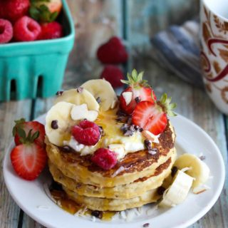 Best Ever Coconut Flour Pancakes for One (Paleo)