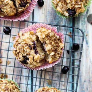Whole Wheat Blueberry Lemon Greek Yogurt Muffins