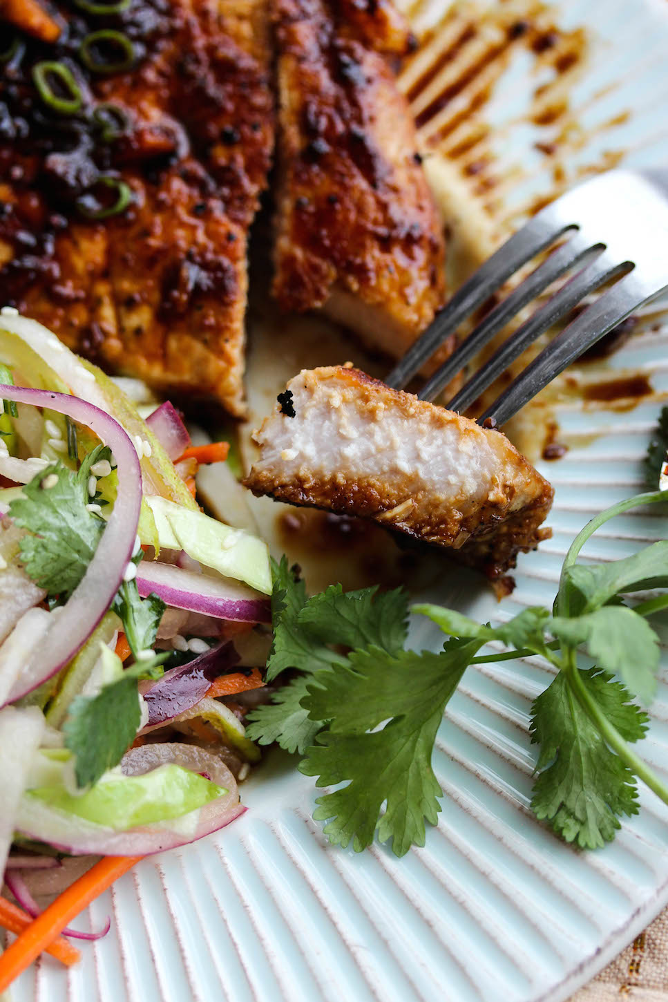 These Pork Chops Are Seared To Perfection And Coated With A Tangy Ginger Soy Glaze That Is Out Of This World I Mean Holy Flavor Bomb The Sweet And Savory