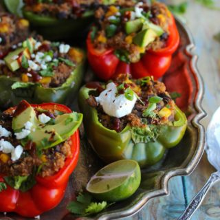 Easy Quinoa Stuffed Peppers with Mango and Black Beans