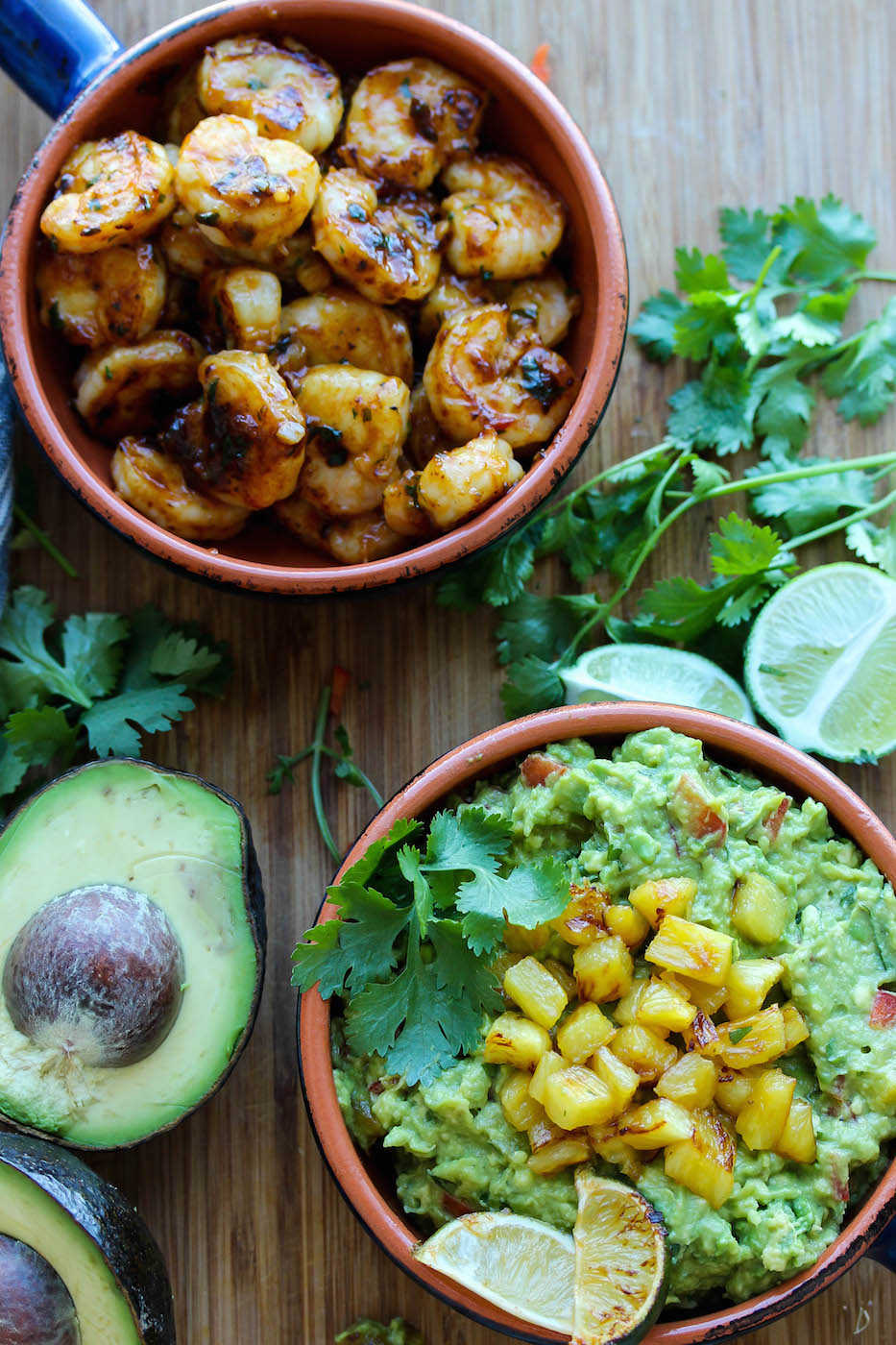 Chili-Lime Shrimp with Caramelized Pineapple Guacamole