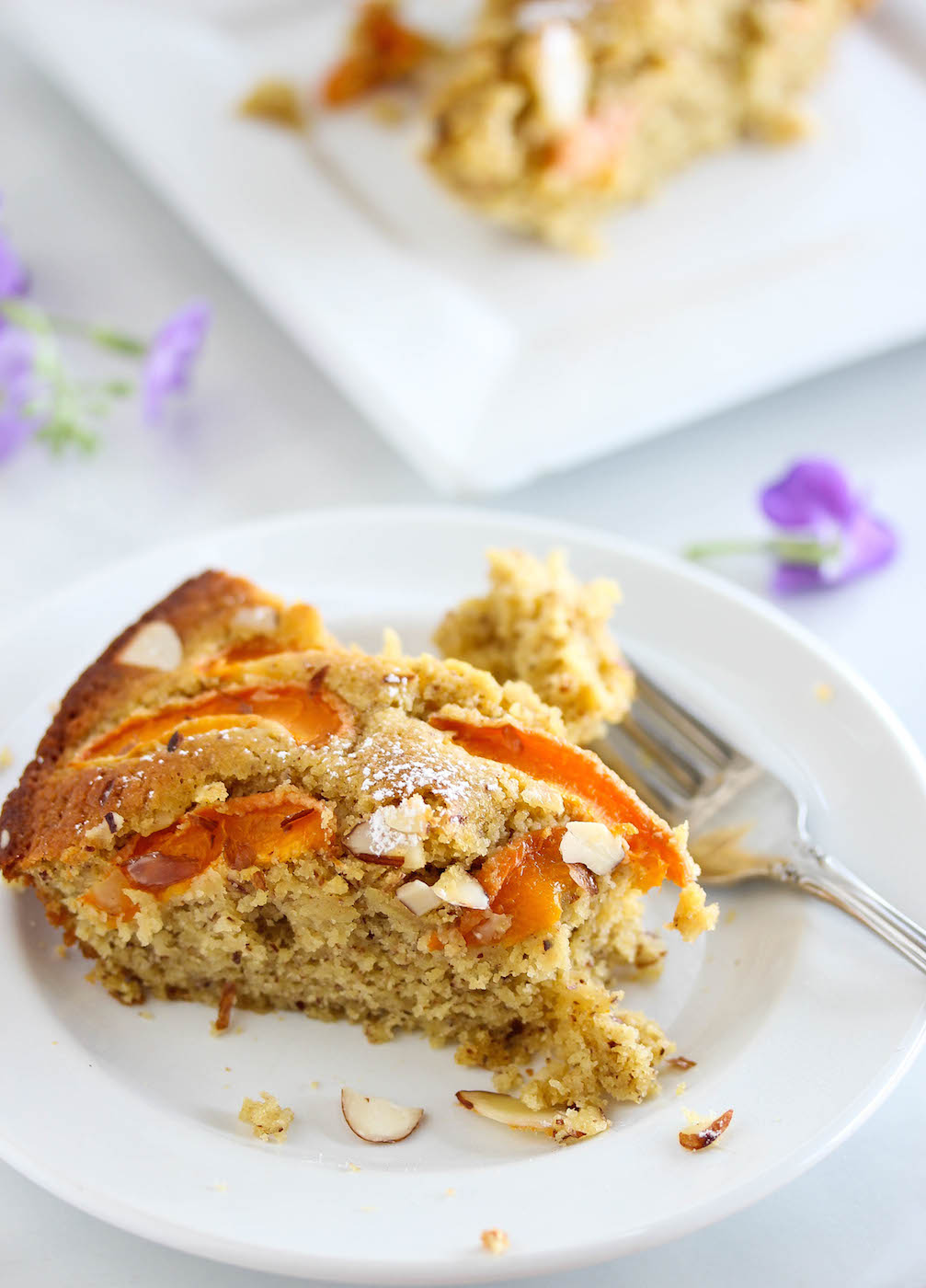 Healthy Apricot Almond Breakfast Cake (Gluten-Free)   Dishing Out Health