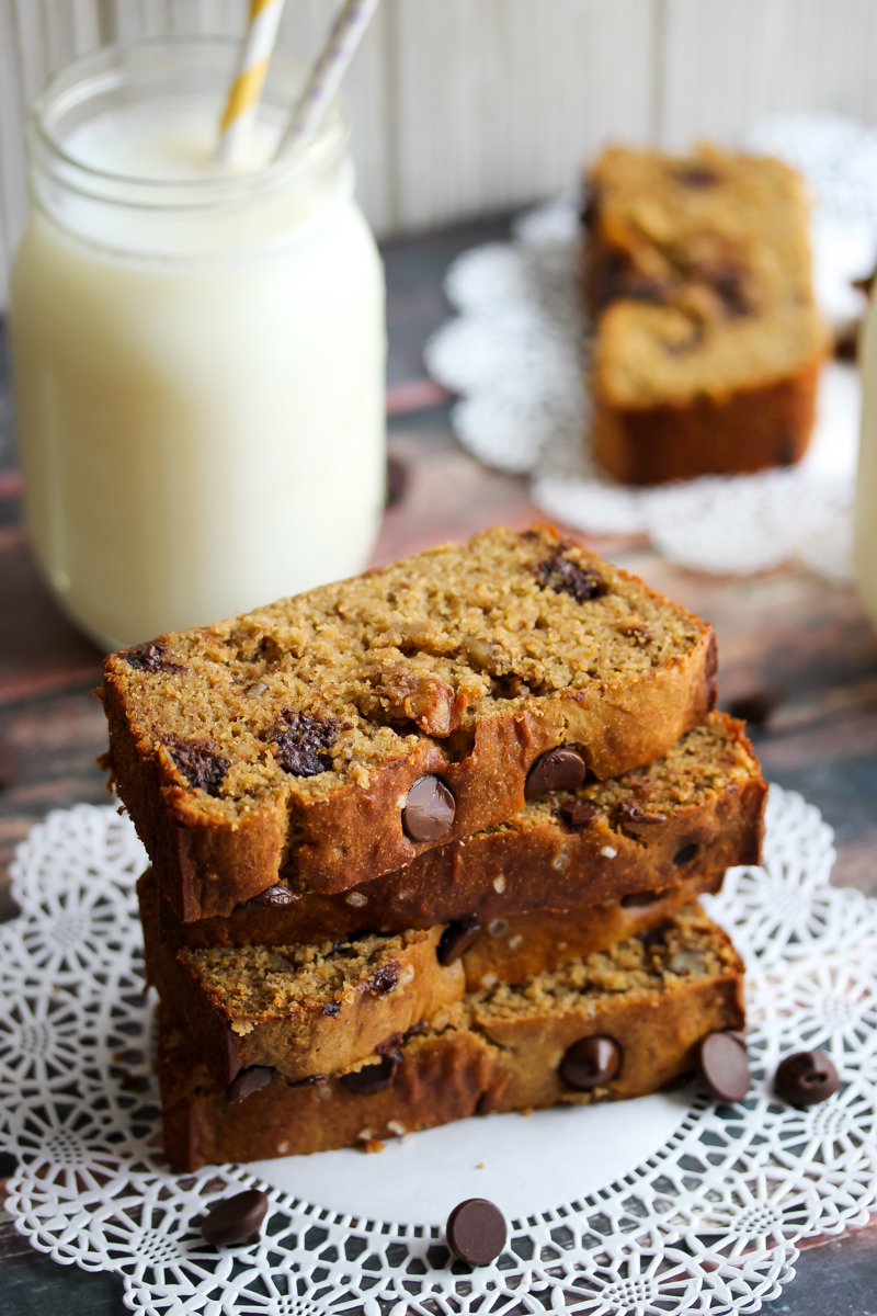 Chickpea Flour Banana Bread with Dark Chocolate and ...