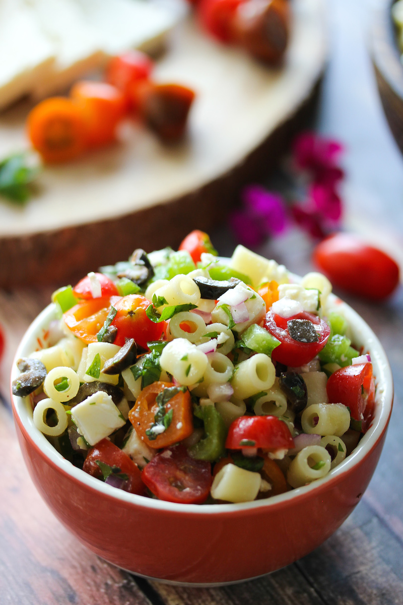 Chopped Greek Pasta Salad
