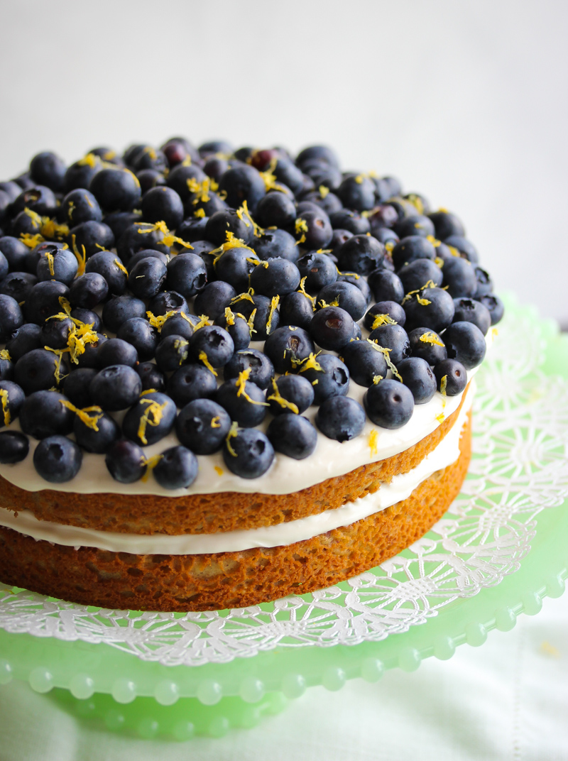 Gluten-Free Lemon Blueberry Greek Yogurt Cake | Dishing Out Health