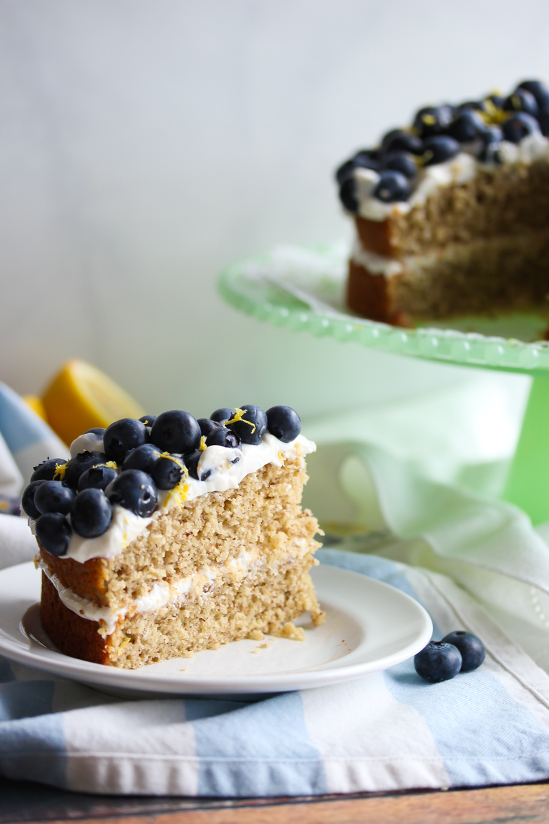Gluten-Free Lemon Blueberry Greek Yogurt Cake | Dishing ...