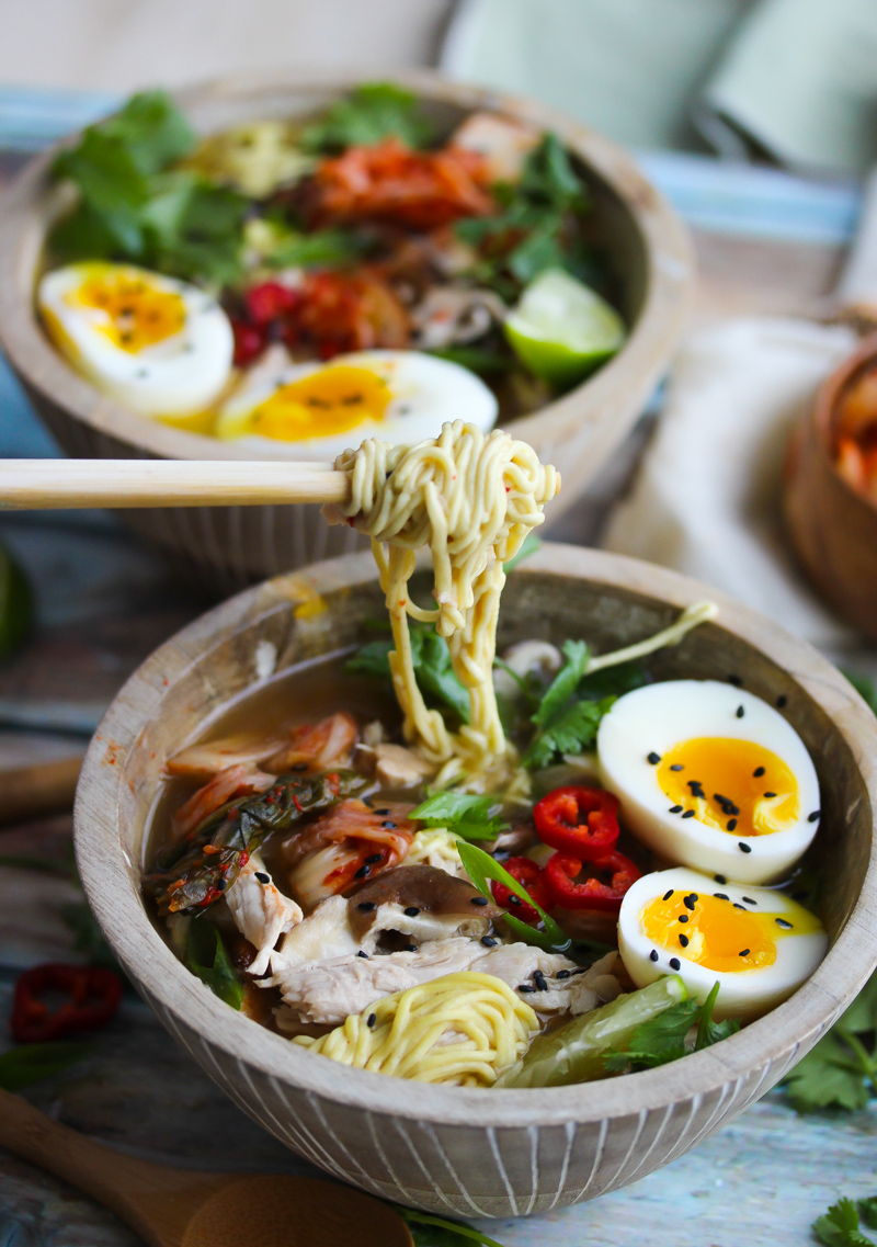 Slow Cooker Pork Ramen Bowls | Dishing