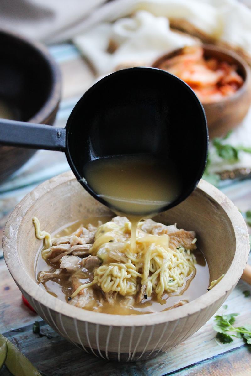 Slow Cooker Pork Ramen Bowls - amazing homemade ramen made easy in the slow cooker | dishingouthealth.com