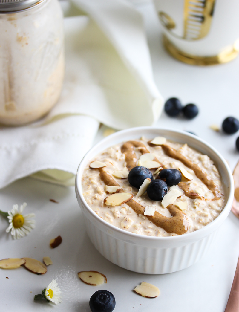 Vanilla Maple Almond Butter Overnight Oats