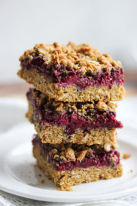 Whole Wheat Raspberry Oat Bars