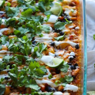 Easy Chicken Enchilada Quinoa Bake