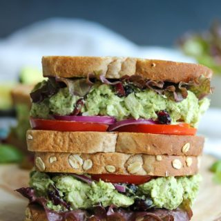 Green Goddess Chicken Salad Sandwiches | dishingouthealth.com