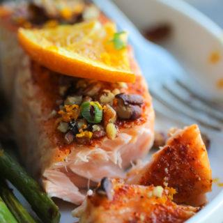 15 Minute Orange Maple Glazed Salmon