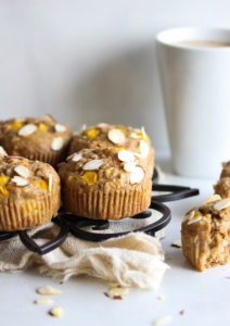 Whole Grain Peach and Coriander Muffins