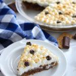 No Bake Healthier S'mores Pie   dishingouthealth.com