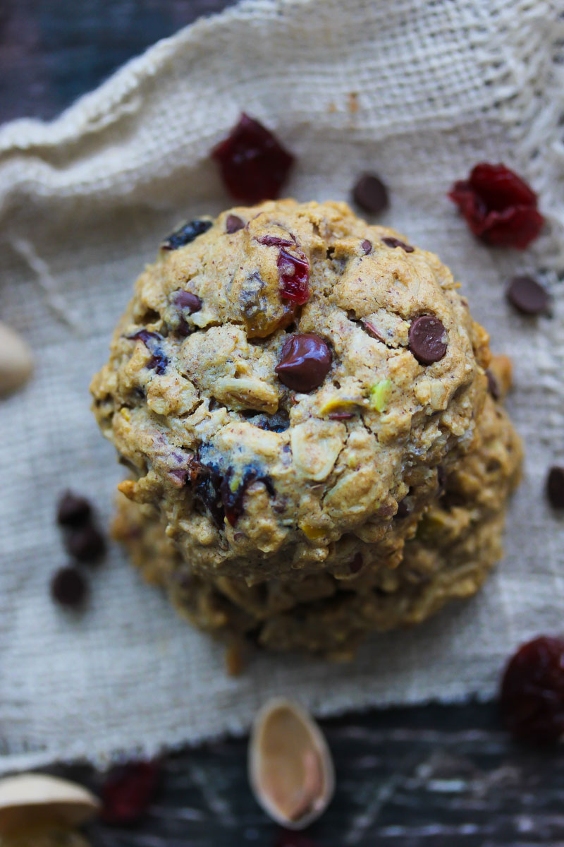 Trail Mix Energy Cookies | dishingouthealth.com
