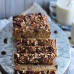 Grain Free Zucchini Chocolate Chip Banana Bread | dishingouthealth.com