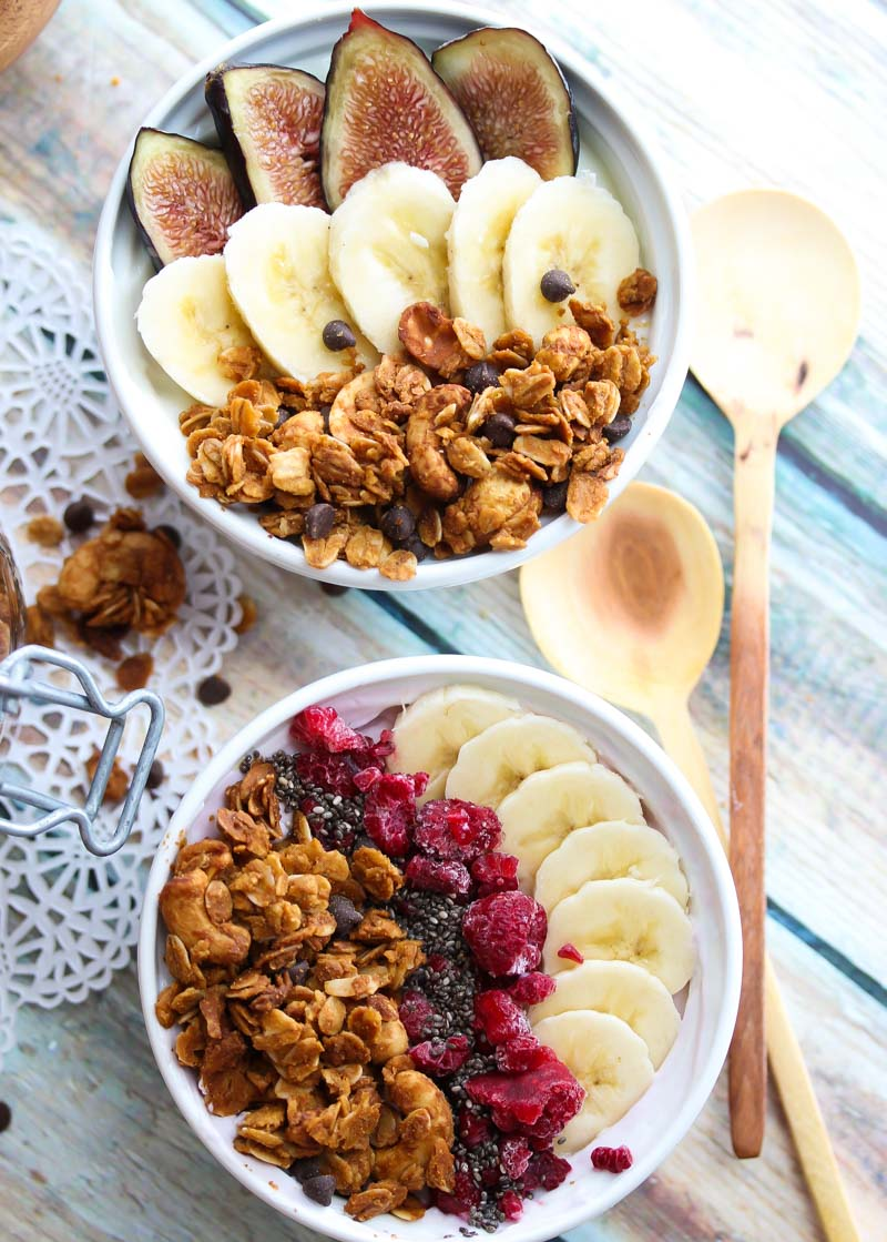 Peanut Butter Cup Granola | dishingouthealth.com