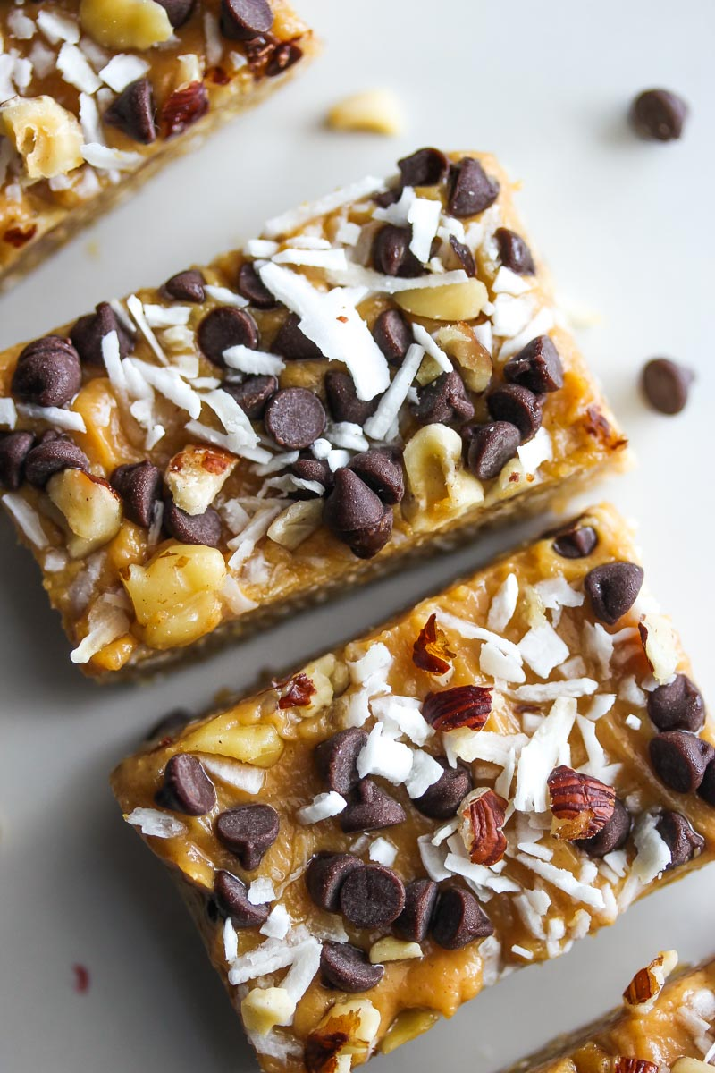 Vegan No-Bake Peanut Butter Magic Bars