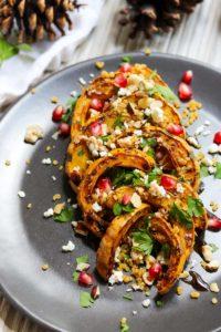 Autumn Delicata Squash Salad | dishingouthealth.com