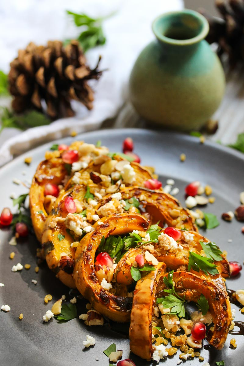 Autumn Delicata Squash Salad | dishingouthealth.com