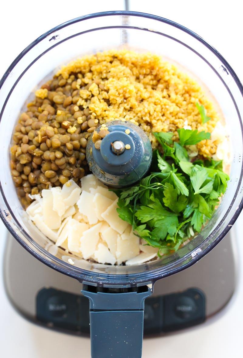 Lentil Meatball Couscous Soup (Vegetarian) | dishingouthealth.com