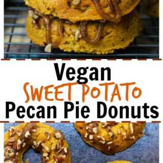 Vegan Sweet Potato Pecan Pie Donuts