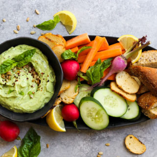 5 Minute Avocado Green Goddess Dip | dishingouthealth.com