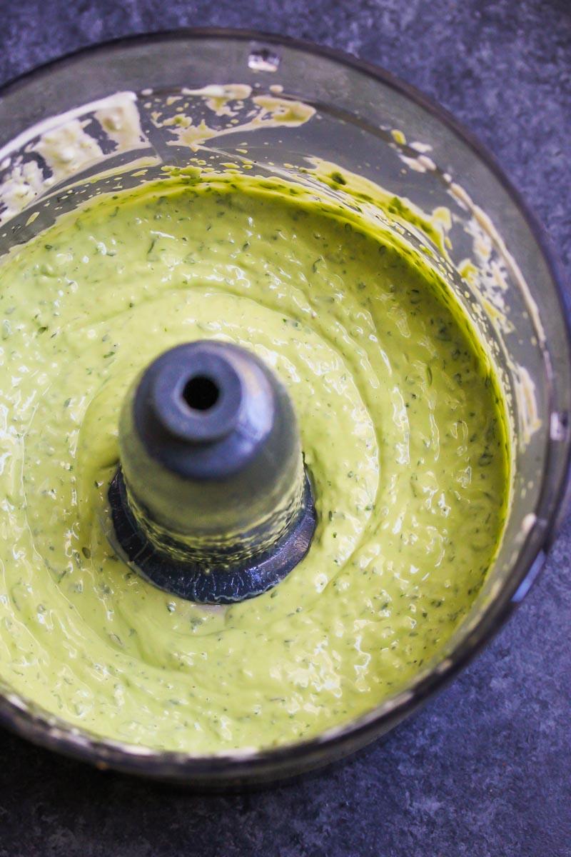 5 Minute Avocado Green Goddess Dip   dishingouthealth.com