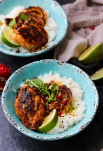 Sweet and Sour Thai Chicken Bowls   dishingouthealth.com