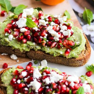 Avocado Toast with Pomegranate Salsa