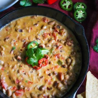 20 Minute Black-Eyed Pea Queso