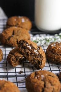 Buckwheat Cardamom Molasses Cookies   dishingouthealth.com