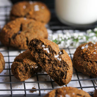 Buckwheat Cardamom Molasses Cookies
